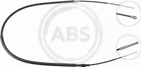 A.B.S. K11466 - Трос, стояночная тормозная система car-mod.com