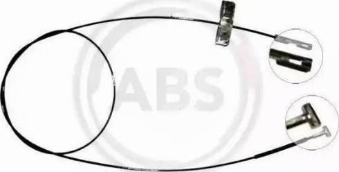 A.B.S. K17252 - Трос, стояночная тормозная система avtokuzovplus.com.ua
