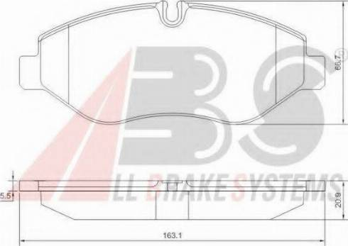 A.B.S. PA6026 - Тормозные колодки, дисковый тормоз avtokuzovplus.com.ua