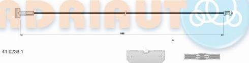 Adriauto 4102381 - Трос, стояночная тормозная система autodnr.net