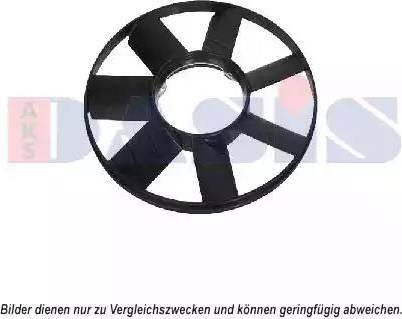 AKS Dasis 058007N - Крыльчатка вентилятора, охлаждение двигателя car-mod.com