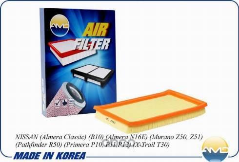 AMD AMD.JFA89 - Воздушный фильтр car-mod.com