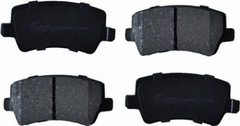 ASAM 55400 - Комплект тормозных колодок, дисковый тормоз autodnr.net