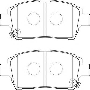 ASAM 71350 - Комплект тормозных колодок, дисковый тормоз autodnr.net