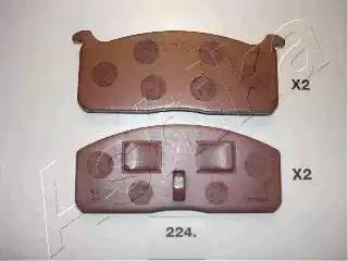 Ashika 5002224 - Комплект тормозных колодок, дисковый тормоз autodnr.net