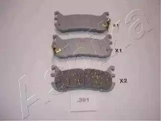 Ashika 51-03-391 - Комплект тормозных колодок, дисковый тормоз autodnr.net