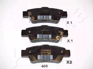 Ashika 51-04-400 - Тормозные колодки, дисковые car-mod.com
