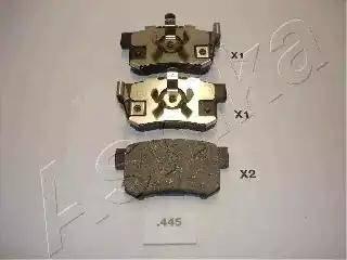 Ashika 51-04-445 - Тормозные колодки, дисковые car-mod.com