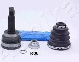 Ashika 620KK06 - Шарнирный комплект, ШРУС, приводной вал avtokuzovplus.com.ua