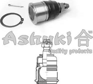 Ashuki 1458-2004 - Несущий / направляющий шарнир autodnr.net