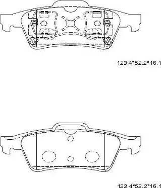 Asimco KD1514 - Тормозные колодки, дисковые car-mod.com