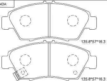Asimco KD1776 - Тормозные колодки, дисковые car-mod.com