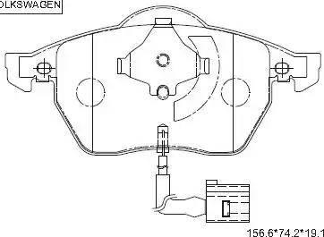 Asimco KD7564 - Тормозные колодки, дисковые car-mod.com