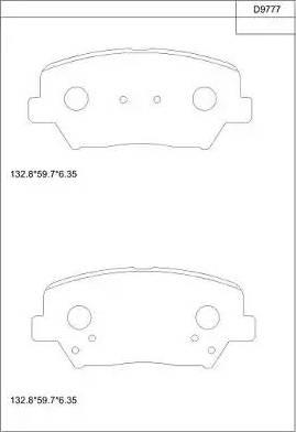 Asimco KD9777 - Тормозные колодки, дисковые car-mod.com
