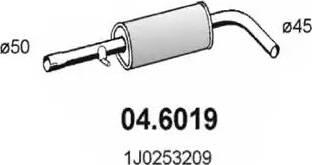 ASSO 046019 - Средний глушитель выхлопных газов autodnr.net