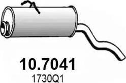 ASSO 107041 - Глушитель выхлопных газов конечный autodnr.net