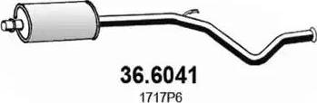 ASSO 366041 - Средний глушитель выхлопных газов autodnr.net