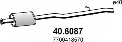 ASSO 406087 - Средний глушитель выхлопных газов autodnr.net