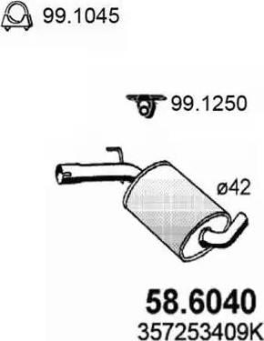 ASSO 586040 - Средний глушитель выхлопных газов autodnr.net