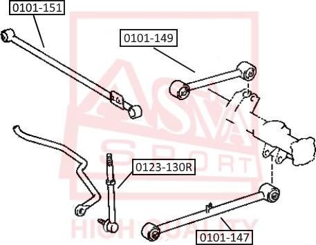 ASVA 0123-130R - Тяга / стойка, стабилизатор car-mod.com