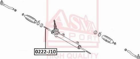ASVA 0222-J10 - Осевой шарнир, рулевая тяга autodnr.net