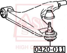 ASVA 0420-011 - Шаровая опора, несущий / направляющий шарнир car-mod.com