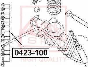 ASVA 0423-100 - Тяга / стойка, стабилизатор autodnr.net