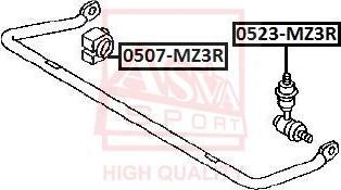 ASVA 0523-MZ3R - Тяга / стойка, стабилизатор autodnr.net
