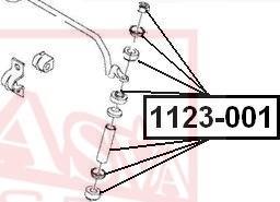 ASVA 1123-001 - Stiepnis/Atsaite, Stabilizators car-mod.com