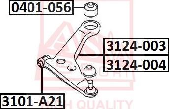 ASVA 3101-A21 - Подвеска, рычаг независимой подвески колеса autodnr.net