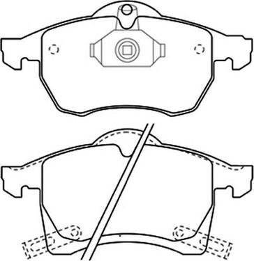 ASVA AKD-1275 - Тормозные колодки, дисковые car-mod.com
