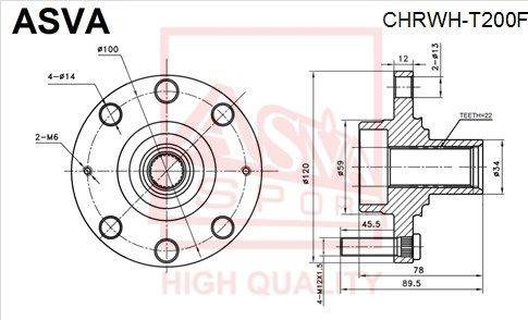 ASVA chrwht200f - Ступица колеса autodnr.net