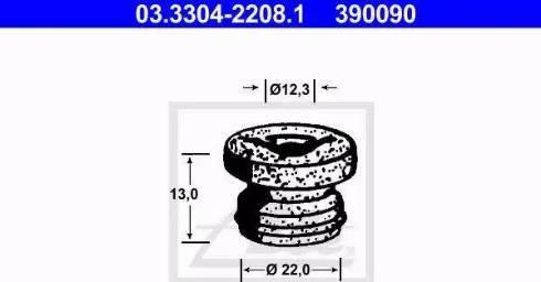 ATE 03330422081 - Пробка, бачок тормозной жидкости avtokuzovplus.com.ua