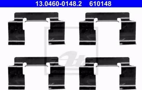 ATE 13.0460-0148.2 - Комплектующие, колодки дискового тормоза autodnr.net