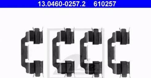 ATE 13.0460-0257.2 - Комплектующие, колодки дискового тормоза autodnr.net