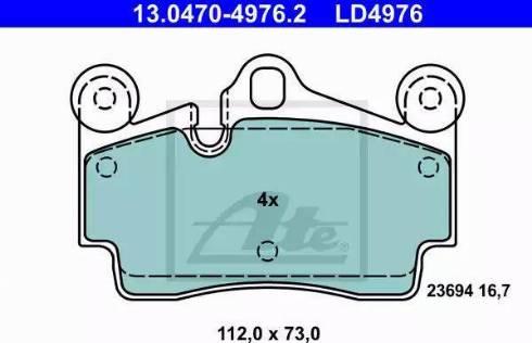 ATE 13.0470-4976.2 - Тормозные колодки, дисковые car-mod.com