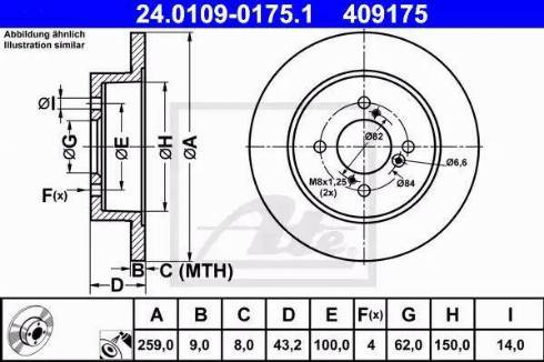 ATE 24.0109-0175.1 - Тормозной диск autodnr.net