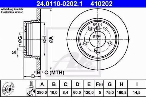 ATE 24.0110-0202.1 - Тормозной диск autodnr.net