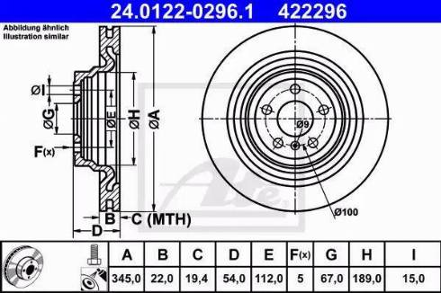 ATE 24.0122-0296.1 - Тормозной диск autodnr.net