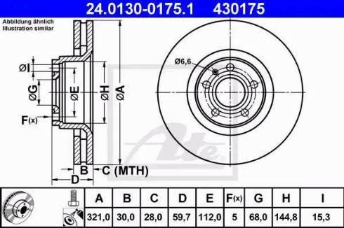 ATE 24.0130-0175.1 - Тормозной диск autodnr.net