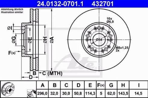 ATE 24.0132-0701.1 - Тормозной диск autodnr.net