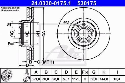 ATE 24.0330-0175.1 - Тормозной диск autodnr.net