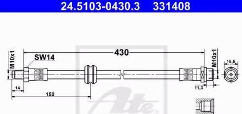 ATE 24.5103-0430.3 - Тормозной шланг car-mod.com