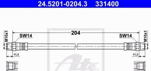 ATE 24-5201-0204-3 - Шланг сцепления car-mod.com