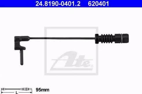 ATE 24819004012 - Сигнализатор, износ тормозных колодок car-mod.com