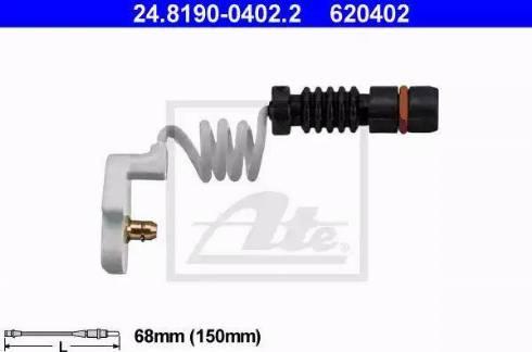 ATE 24819004022 - Сигнализатор, износ тормозных колодок car-mod.com