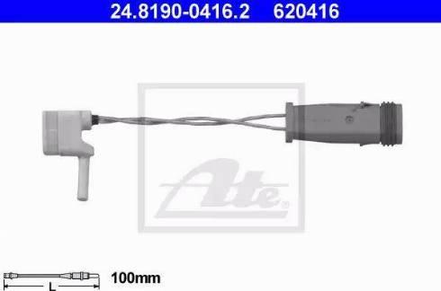 ATE 24819004162 - Сигнализатор, износ тормозных колодок car-mod.com
