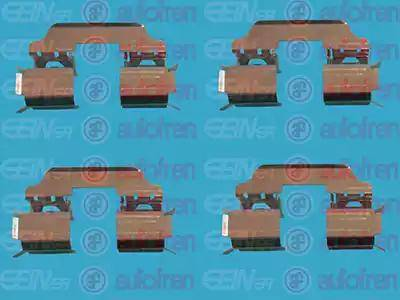 AUTOFREN SEINSA D42400A - Комплектующие, колодки дискового тормоза avtokuzovplus.com.ua