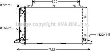 Ava Quality Cooling aia2047 - Радиатор, охлаждение двигателя autodnr.net