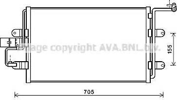 Ava Quality Cooling AI5130 - Конденсатор, кондиционер avtokuzovplus.com.ua
